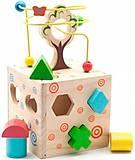 Логический кубик с деревом, Д014, игрушки