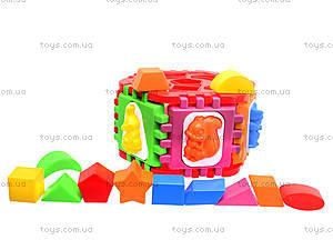 Логический шестигранник-сортер «Животные», 50-002, игрушки