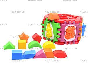 Логический шестигранник-сортер «Животные», 50-002, магазин игрушек