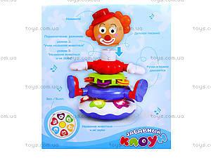 Музыкальная пирамида «Клоун», 7531, детские игрушки