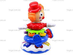Музыкальная пирамида «Клоун», 7531, магазин игрушек