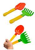 Двухцветная лопатка с грабельками, Л-032, фото
