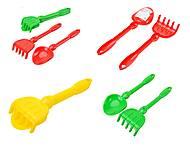Детский песочный набор «Лопатка и грабли», 01-110-1, купить