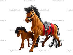 Мягкая велюровая лошадь, 325B, іграшки