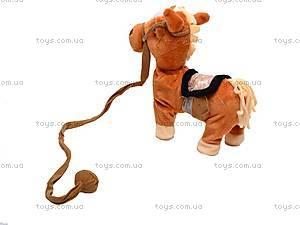 Лошадь музыкальная с поводком, 1467-4, игрушки