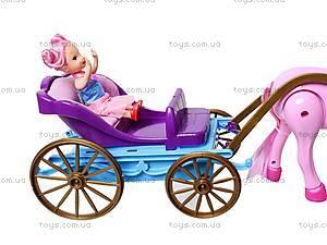 Лошадь с детской каретой и куклой, 686-631, купить