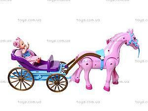 Лошадь с детской каретой и куклой, 686-631, цена