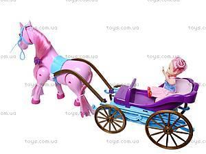 Лошадь с детской каретой и куклой, 686-631, детские игрушки