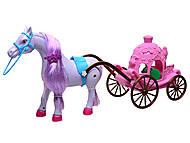 Лошадь с игрушечной каретой, 686-632, купить