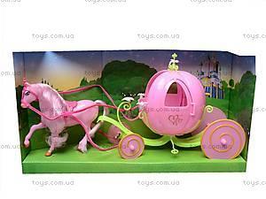 Лошадь с каретой для Золушки, 28908B, купить