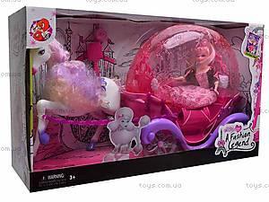 Лошадь с каретой и куклой, M8002, купить