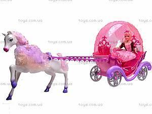 Лошадь с каретой и куклой, M8002