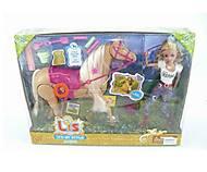 Лошадь с куклой и аксессуарами, 66013, фото