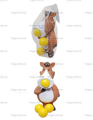 Игрушечная лошадь, стреляет шариками, WD163ABC