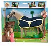 Лошадка бежевая с попоной и аксессуарами, 432 4964-3