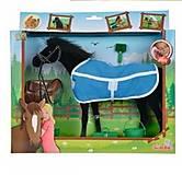 Лошадка черная с попоной и аксессуарами, 432 4964-1, отзывы