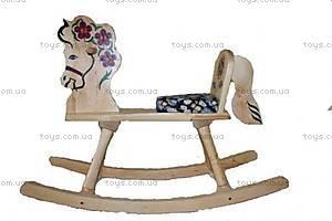 Лошадка-качалка, деревянная, LK160