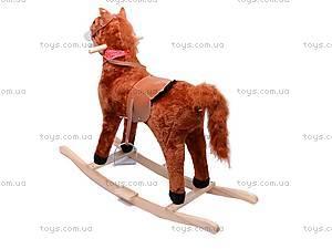 Лошадка-качалка, меховая, DM01, купить