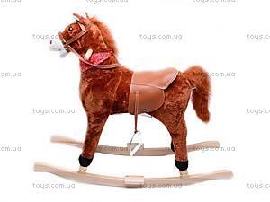 Лошадка-качалка, меховая, DM01, фото