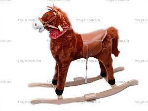 Лошадка-качалка, меховая, DM01
