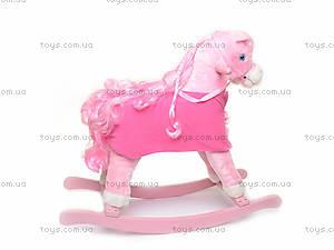 Лошадка-качалка, розовая, JR620