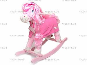 Лошадка-качалка, розовая, JR620, фото