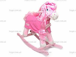 Лошадка-качалка, розовая, JR620, отзывы