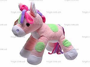 Лошадка мягкая игрушечная, К326Т, фото