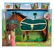 Лошадка рыжая с попоной и аксессуарами, 432 4964-2, купить