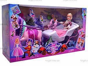 Лошадка с каретой и куклой, 66420