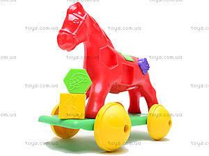 Игрушка-каталка «Лошадка Zibi», 00201, детские игрушки
