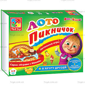 Лото «Пикничок Маши и Медведя», VT2101-01, toys