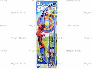 Лук со стрелами на присосках и мишенью, 8901D
