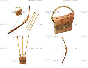 Деревянный лук со стрелами, 75см, 171873