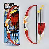 Лук со стрелами на листе (красный), 9818, доставка