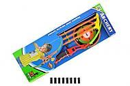 Лук игрушечный со стрелами и мишенью, NL-05K