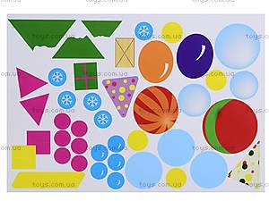 Аппликация с наклейками «Геометрические фигуры», Л524020РУ, игрушки