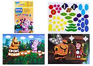 Аппликация с наклейками «Разноцветные фигуры», Л524021РУ, купить
