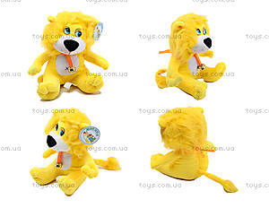 Мягкий львенок со звоночком, F-FK0036