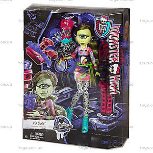Кукла Айрис Клопc Monster High с набором одежды, CKD73, купить