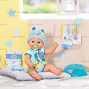 Кукла BABY BORN «Очаровательный малыш» в голубом бодике, 824375, детские игрушки