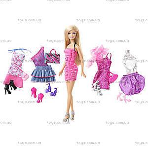 Кукла Барби с набором «Мой гардероб», T3539, цена