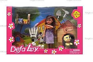 Детская кукла с щенком и аксессуарами, 8281