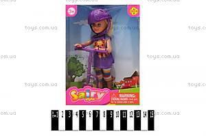 Кукла Defa с самокатом, 8294