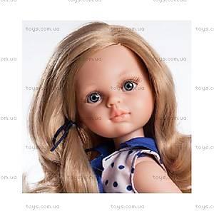 Детская кукла «Карла в платье с синим бантом», 04506, купить