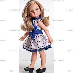 Детская кукла «Карла в платье с синим бантом», 04506
