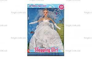 Детская кукла в платье, 6830-3