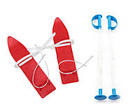 Лыжи детские «KIDS SKI» 40 см красные MARMAT, 6104, фото