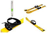 Лыжи желтые с рисунком, L90Y, toys.com.ua