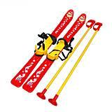 Лыжи с палками детские красные Технок (3350), 3350, цена